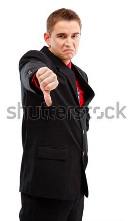 Hombre de negocios abajo jóvenes empresario Foto stock © icefront