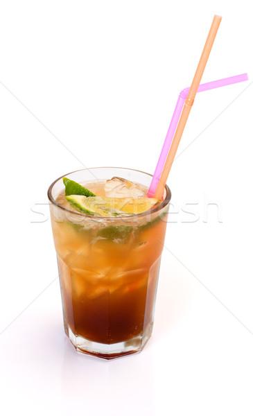 Largo isla té vidrio limón alcohol Foto stock © icefront