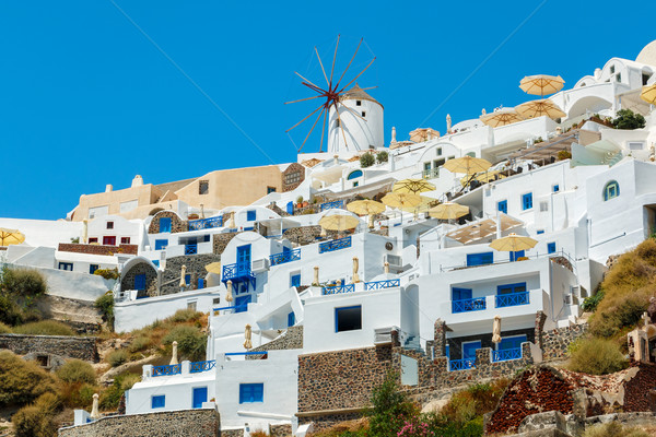 Windmill and apartments in Oia, Santorini, Greece Stock photo © icefront