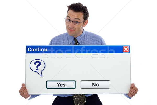 Confirm dialog box Stock photo © icefront