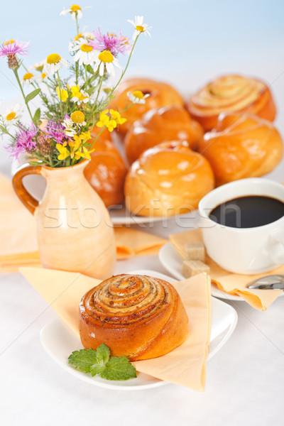 Cinnamon roll breakfast Stock photo © icefront