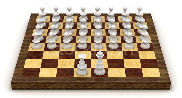 Simbólico xadrez revolução rei rainha Foto stock © icefront