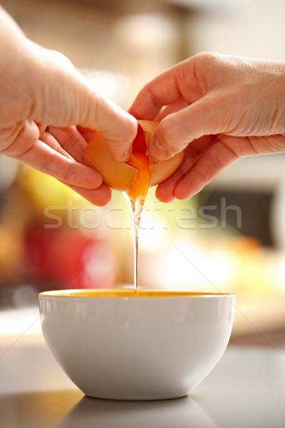 Ei voedsel achteraanzicht handen omhoog ruw Stockfoto © icefront