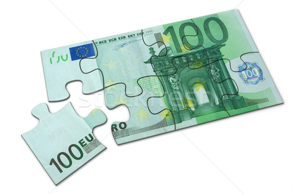 Euros puzzle simple 100 jouet Photo stock © icefront