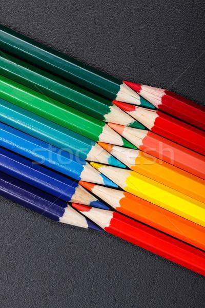 Sıcak soğuk renkler renkli kalemler boya Stok fotoğraf © icefront