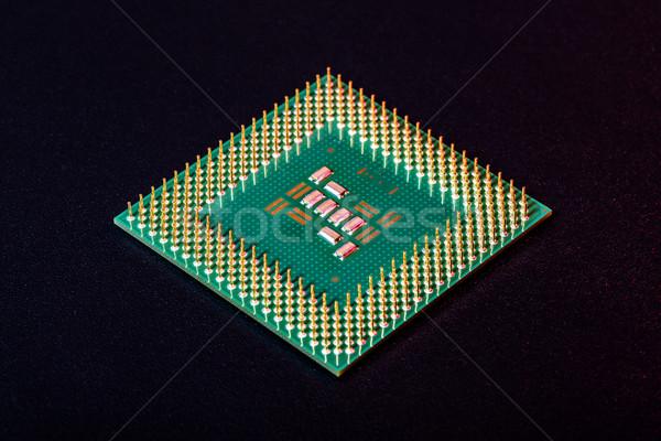 Computador processador fundo ver verde Foto stock © icefront