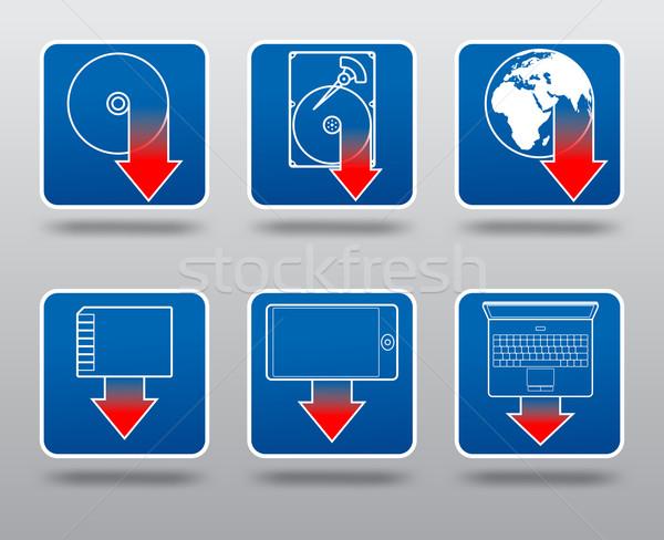 Download icon set Stock photo © icefront
