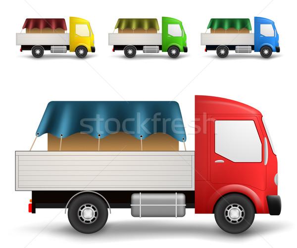 Cargo truck illustration Stock photo © icefront