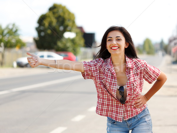 Hitch hiking Stock photo © icefront