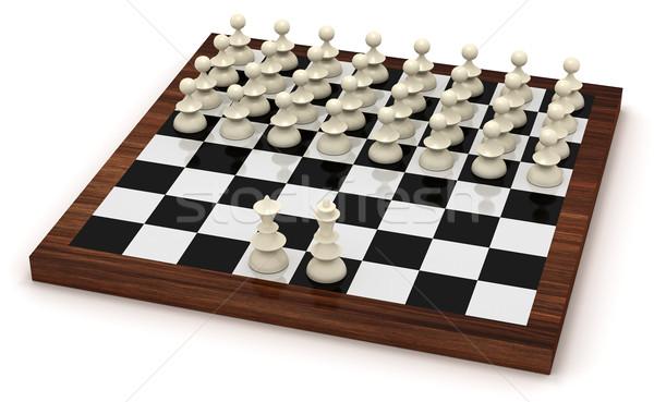символический шахматам революция царя королева Сток-фото © icefront