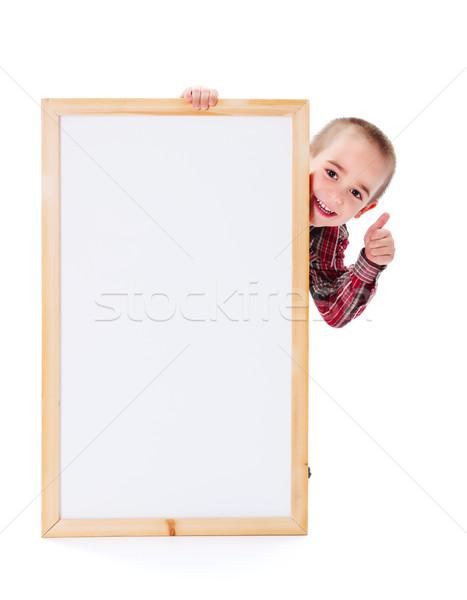 Alegre nino anuncio pequeño nino Foto stock © icefront