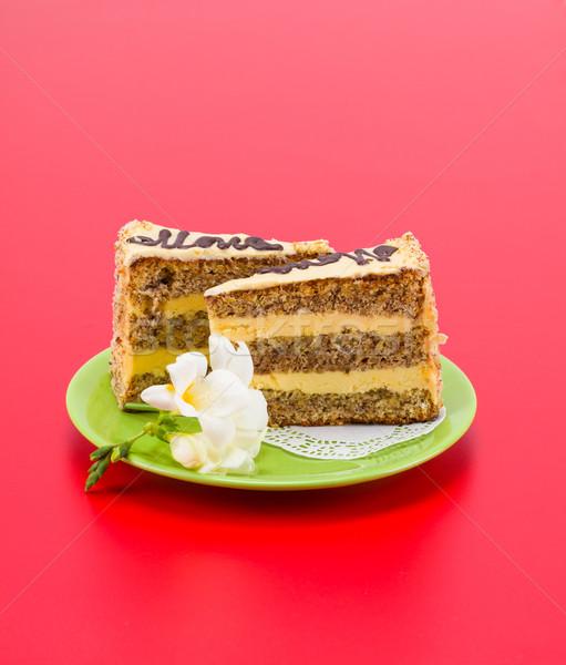 Orange layer cake Stock photo © icefront