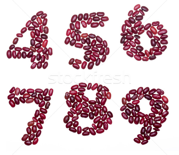番号 赤 腎臓 豆 番号 セット ストックフォト © icefront