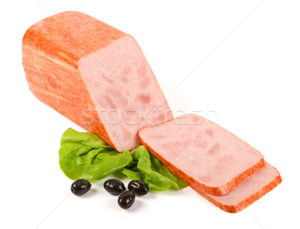 Pressed ham and slices Stock photo © icefront