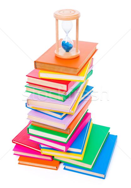 Książek klepsydry kolorowy górę Zdjęcia stock © icefront