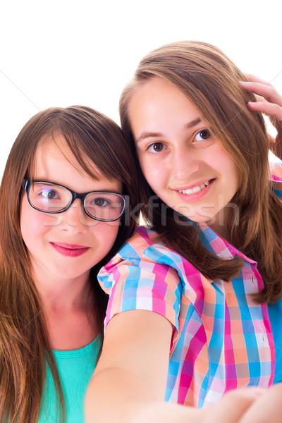 Bastante adolescente ninas nina gafas Foto stock © icefront