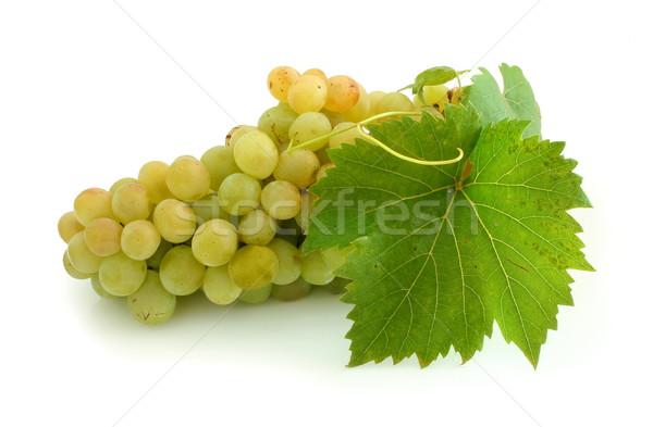 黄色 ブドウ クラスタ 孤立した 葉 ワイン ストックフォト © icefront