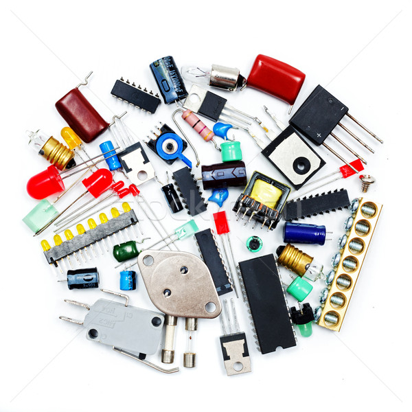 Bunch of electronic components Stock photo © icefront