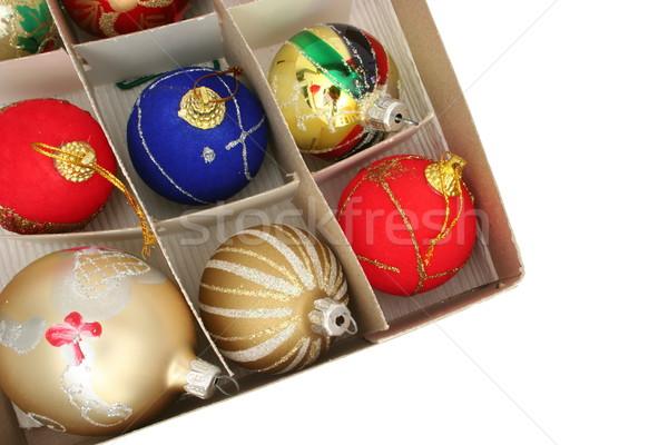 Рождества украшения Top мнение окна бумаги Сток-фото © icefront