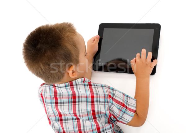 Pequeño nino jugando superior vista Foto stock © icefront