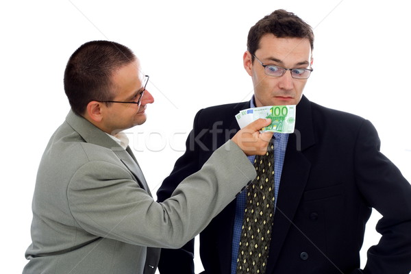Businessman or politician bribe Stock photo © icefront