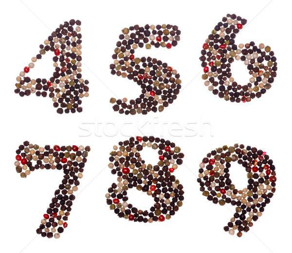 番号 混合した 番号 セット 手紙 赤 ストックフォト © icefront