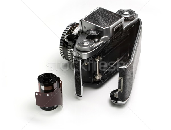 Oude uitrusting camera film zwarte Stockfoto © icefront