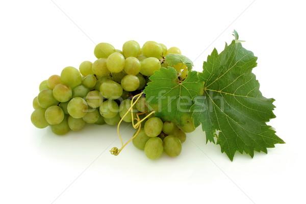 緑 ブドウ クラスタ 孤立した 葉 ワイン ストックフォト © icefront