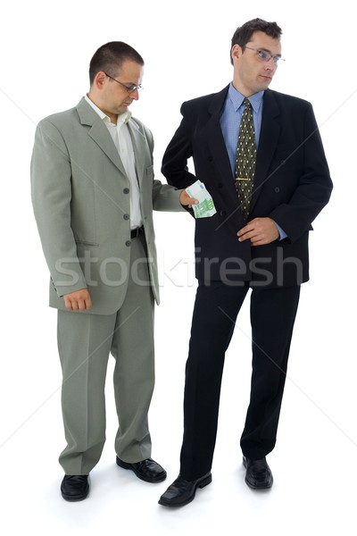 Businessman or politician taking bribe Stock photo © icefront