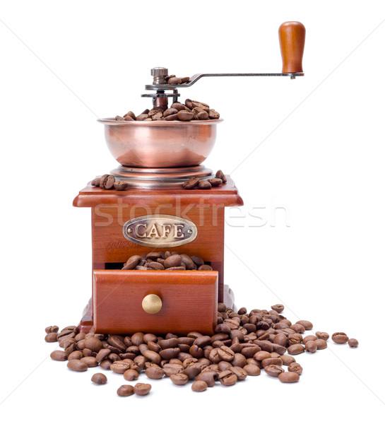 Vecchio stile caffè fagioli in giro cafe Foto d'archivio © icefront