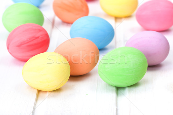 Colorful painted Easter eggs Stock photo © icefront