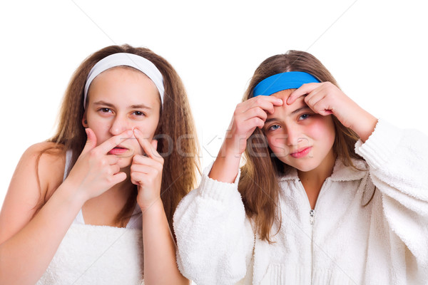 Teenager's skin problem concept Stock photo © icefront