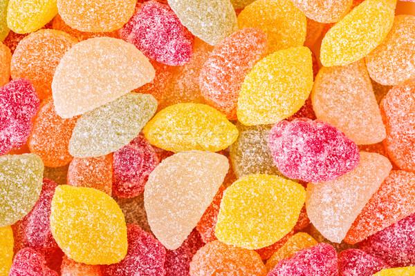 Top suiker gedekt jelly beans macro Stockfoto © icefront