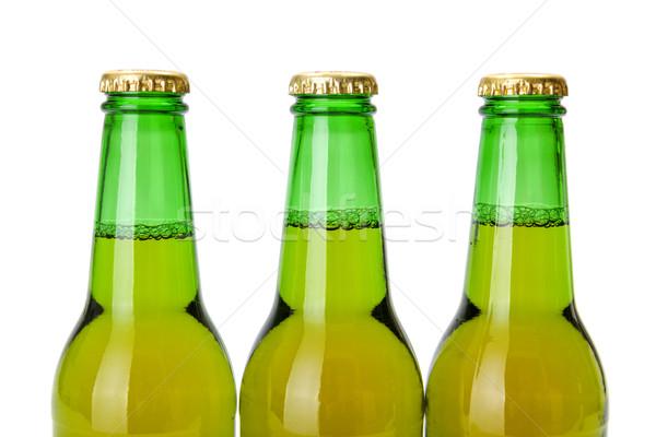 Zöld sörösüveg sör háttér hideg folyadék Stock fotó © icefront