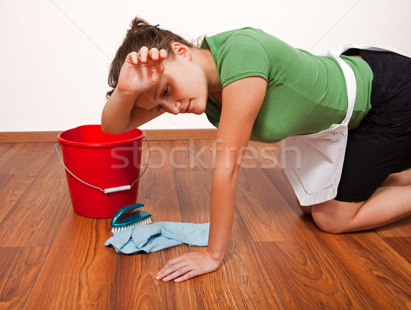 Woman getting tired Stock photo © icefront