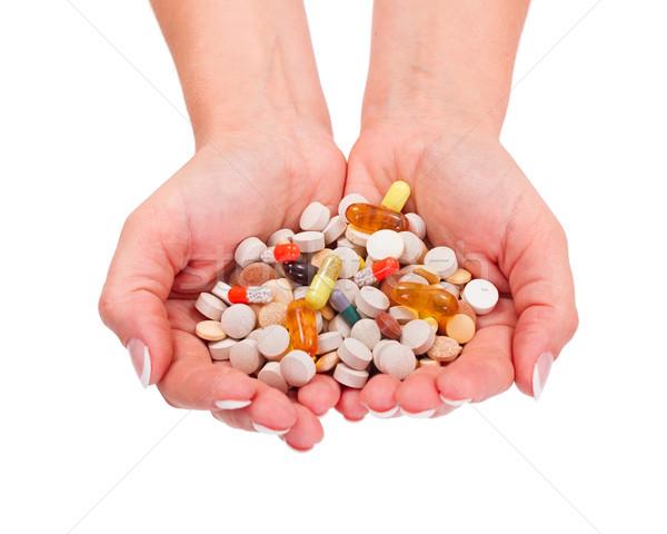 Drogas mano salud blanco Foto stock © icefront