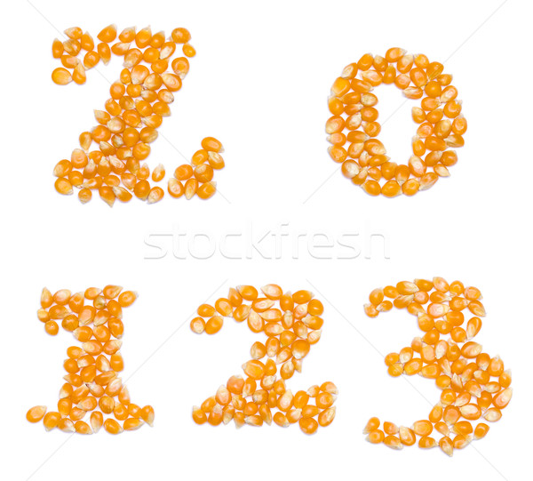 Numbers made of corn seeds Stock photo © icefront