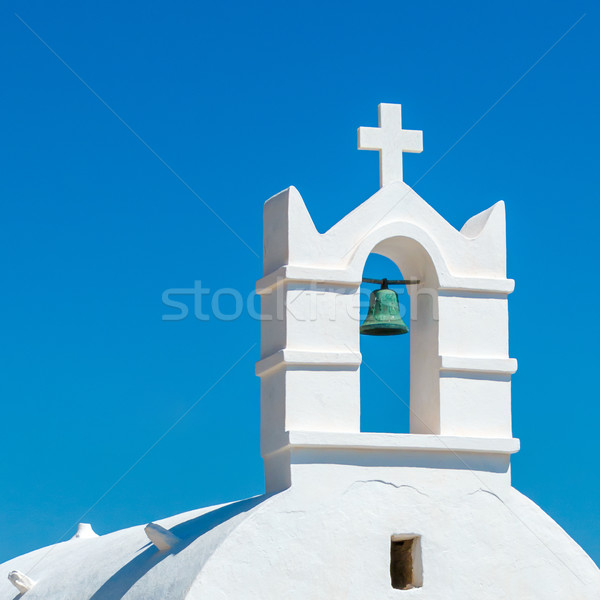 Greek church bell against blue sky Stock photo © icefront