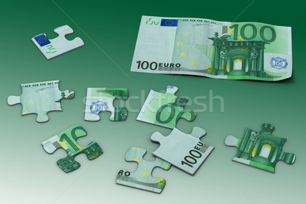 Euros puzzle jouet échantillon cent Photo stock © icefront