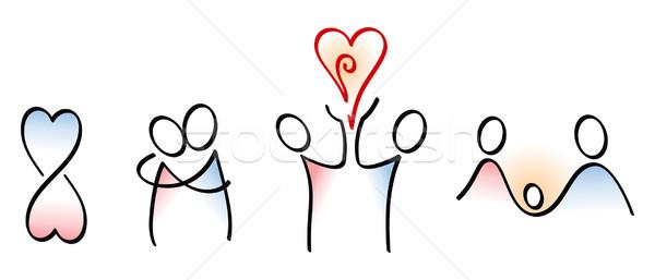 アイコン 愛 女性 手 手 カップル ストックフォト © icefront