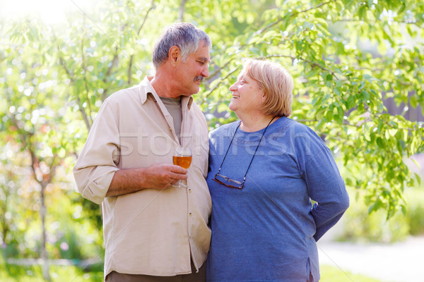 Middle aged married couple Stock photo © icefront