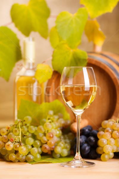White wine glass (shallow DOF) Stock photo © icefront