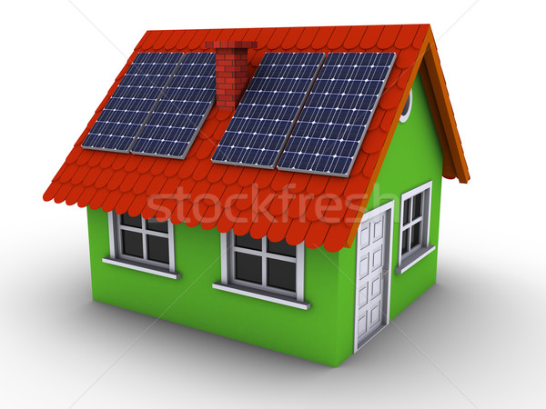 Simple green house Stock photo © icefront