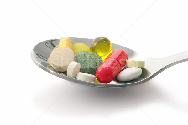 Medications in spoon Stock photo © icefront