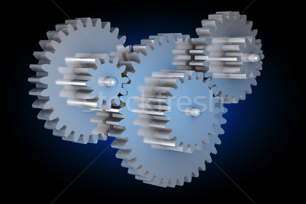 Virtual rotating gears Stock photo © icefront