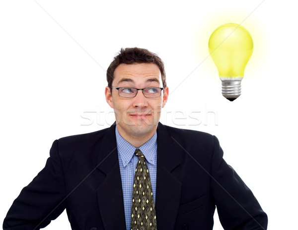 Businessman having an idea Stock photo © icefront