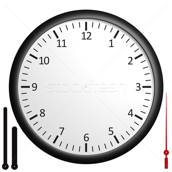 Stock photo: Customizable blank clock