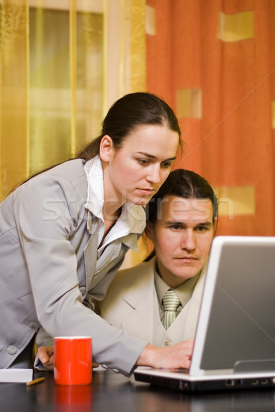 Couple working Stock photo © icefront