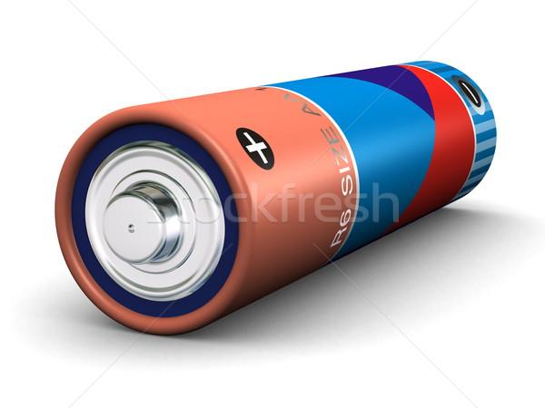 Batterij maat 3d render metaal macht store Stockfoto © icefront
