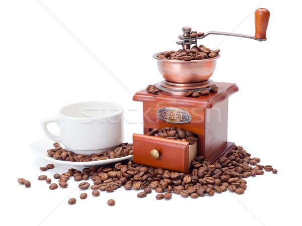 Vecchio stile caffè Cup fagioli in giro Foto d'archivio © icefront